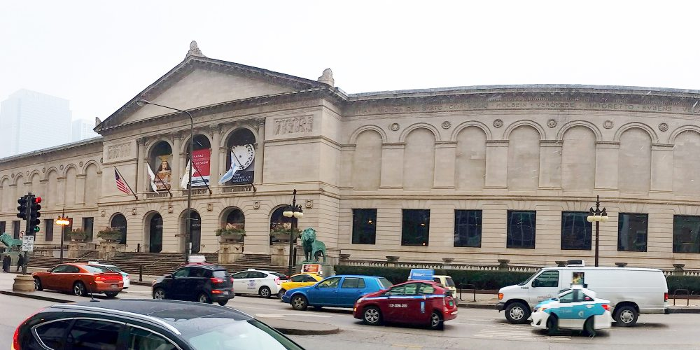 Exterior shot of the Art Institute of Chicago with AGNORA fabricated glass.
