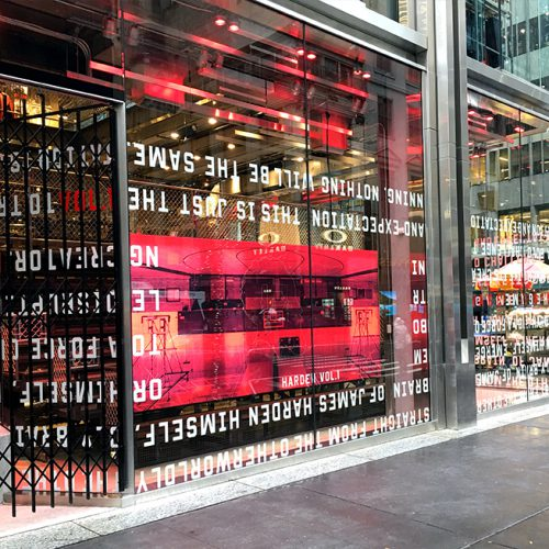 Adidas 5th Ave Flagship New York featuring laminated glass, fabricated by AGNORA